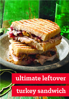 The Ultimate Leftover Turkey Sandwich – Sliced turkey, stuffing, cranberry sauce? Check, check, check! This easy recipe shows you how to use leftovers to make the perfect post-Thanksgiving sandwich.