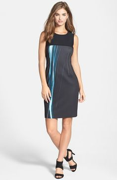 T Tahari 'Dakota' Sleeveless Sheath Dress available at #Nordstrom
