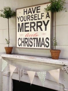 Merry Christmas Little Sign