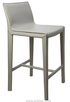 Modern Furniture :: Stools :: Contemporary Leather Counter Stool in Light Grey RC-V979 - ARTeFAC Canada