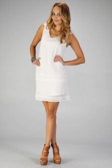 Casual white dress for the spring