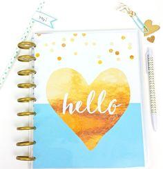 Hello Heart Printable Happy Planner Cover