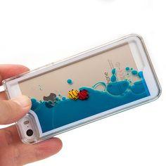 Funny Flowing Fish Liquid Ocean Iphone 4/5/6 Cases