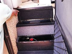 Storage stairs open