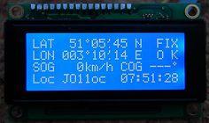 Arduino GPS receiver with Maidenhead locator