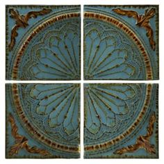 Shop for Imax Corporation Blue Quarter Medallion Set Of 4 Wall Panels, and other Accessories at Discovery Furniture. Embossed rustic metal medallion wall decor panels set of four.