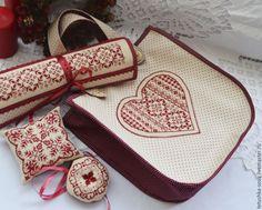 Купить Набор для рукодельницы Елизавета - органайзер для рукоделия, игольница, органайзер, подарок женщине