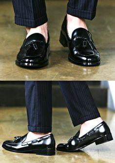 Classic Black Tassel Loafer