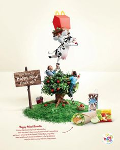 How does the Happy Meal stack up?    Advertising Agency: Leo Burnett, Sydney, Australia  Creative Director: Andy Dillalo  Art Director: Brendan Donnelly  Copywriter: Guy Futcher  Photographer: Danny Eastwood  Model Makers: Yippee Ki-Yay  Producer: Jeremy Devilliers  Published: June 2013