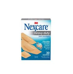 Nexcare Heavy Duty Flexible Fabric Bandages, Assorted Sizes, 30-Count Packages (Pack of 4) by Nexcare. Save 9 Off!. $13.20. Highly breathable material allows sweat and moisture to evaporate ? Adhesive seals around pad to keep out dirt & germs, Great Value, unique natural feel, Latex free, made in U.S.A. 40 count.