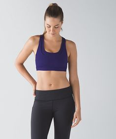 36a65304e8ff7 Emperor blue run stuff your bra III power mesh size 4. Julie · Lululemon  Sports Bras