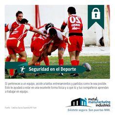 ¡Excelente jueves! El tip de #Seguridad en el Deporte del día de hoy nos recomienda participar en todos los entrenamientos y partidos de nuestros equipos a fin de mantener una buena condición y mejorar nuestras habilidades de trabajo en equipo.