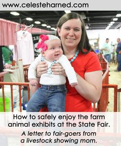 This livestock show mom shares her tips to keep your family and the animals safe at the state fair. #stockshowlife #statefair