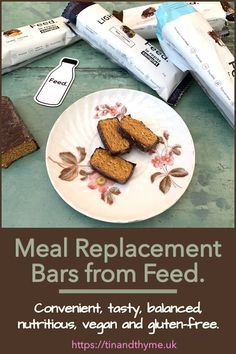 Meal Replacement Bars. Convenient, tasty, balanced, nutritious, vegan and gluten-free bars from the French company Feed. Read the review and enter the giveaway for your chance to try some. You have until 11 March 2020. #TinandThyme #FoodReview #MealReplacementBars #review #giveaway Gluten Free Bars, Dairy Free Snacks, Whole Food Recipes, Vegan Recipes, Meal Replacement Bars, Vegan Bar, Chocolate Snacks, Vegetable Protein, Post Workout Food