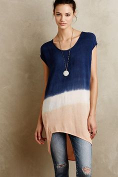 Noa Dip-Dye Tunic - anthropologie.com