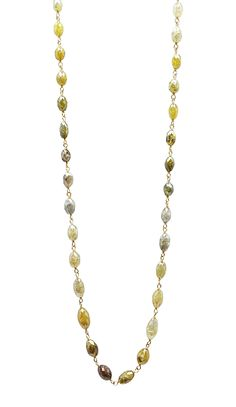 14K Yellow Gold Mix Color Marquise Shape Rosary Beads by TIAARA (Also available in White Gold )