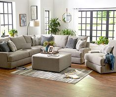 Broyhill Highland Living Room Collection Living Room Sectional, Living Room Grey, Living Room Decor, Grey Sectional, Broyhill Furniture, Large Furniture, Furniture Ideas, Furniture Collection, Family Room