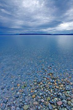 Smelt Bay Provincial Park, looking towards Marina Island. Cortes Island, British Columbia, Canada