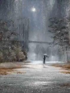 Rowland, 1964 I love a rainy night ~ press the GIF and watch it rain!I love a rainy night ~ press the GIF and watch it rain! Walking In The Rain, Singing In The Rain, Winter Gif, Rain Gif, I Love Rain, Rain Days, Gifs, Rain Storm, Rainy Night