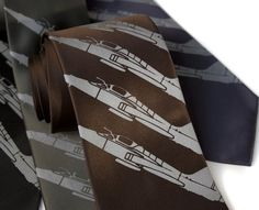 Airplane necktie Plane Stripe tie. Fighter jet by Cyberoptix