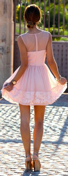Little Pink Back Style Summer Dress