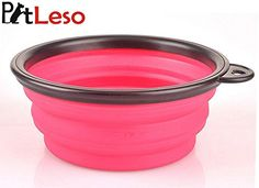 Pet Leso Pop-up Pet Bowl Travel Bowl Water Feeder Bowl Portable Bowl For Dogs Cats -Pink
