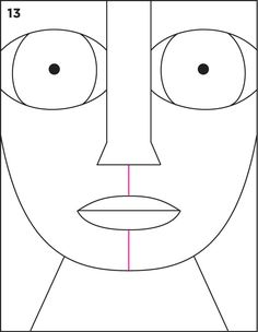 Human head pattern. Use the printable outline for crafts ...