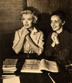 Marilyn and her acting coach Natasha Lyres.