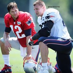 See this Instagram photo by @patriots • #Gronk #TomBrady #PatriotsTrainingCamp2016
