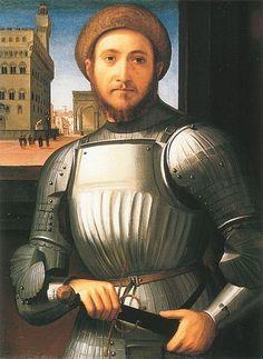 Francesco Granacci, 1510? Portrait of an unknown man in armor