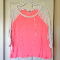 NWT Victoria's Secret 3/4 sleeve tee NWT Victoria's Secret 3/4 sleeve tee. Super soft and comfy! Size extra small but hangs loose. Victoria's Secret Tops Tees - Long Sleeve