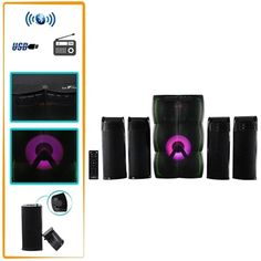 The Hot New beFree Sound 4.1 Channel Multimedia Wired Speaker Shelf System with Sound Reactive LED lights and USB Input offer you and your home an elevated audio experience.