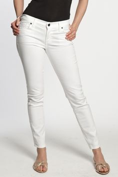 Screw the ketchup stains! This is gonna happen..WHITE JEANS!
