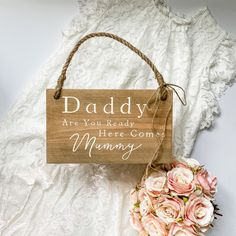 Wood Wedding Signs, Wood Signs, Wedding In The Woods, Wedding Day, Aisle Style, Here Comes, Jute Twine, Guest Book Alternatives, Hanging Signs