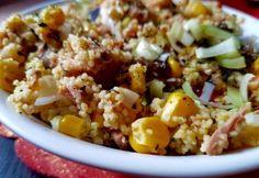 Tonhalas kuszkusz pikánsan Light Recipes, Buffet, Grains, Paleo, Food And Drink, Low Carb, Healthy Recipes, Healthy Foods, Favorite Recipes