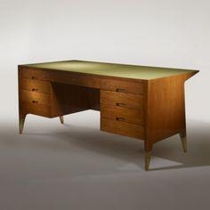 Gio Ponti, Executive Desk from Vembi-Burroughs in Genoa, 1950.