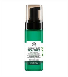 Our Tea Tree Skin Clearing Foaming Cleanser is an instantly foaming daily facial wash, formulated to be gentle on blemished skin. Infused with potent tea tree oil, it cleanses and purifies, without over drying, leaving your skin feeling fresh and matte. Body Shop Tea Tree, The Body Shop, Body Shop At Home, Cleanser For Oily Skin, Cleanser And Toner, Face Cleanser, Moisturizer, Tea Tree Face Wash, Tea Tree Oil For Acne