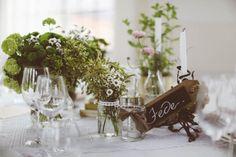 Green floral centerpieces   Photo by Barbara Zanon