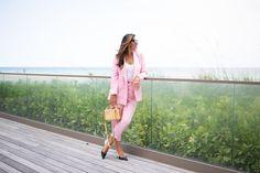 Gotta love a (cheap) pink power suit!
