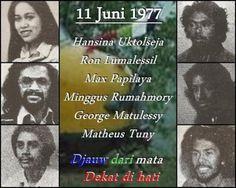 De zes op 11 Juni 1977 bij de Punt omgekomen, (geëxecuteerde) Molukse kapers