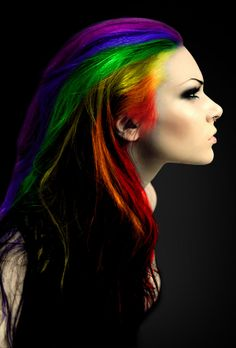 Rainbow HAIR?! I think.... YES!