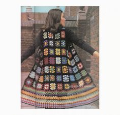 Vrouwen Boho Vest gehaakt patroon Vintage 70s door oldschoolwoolens