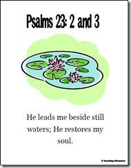 Memory Verse Helps-Psalms 23:2-3