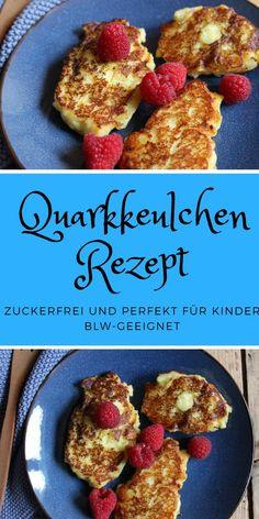 Breifrei Rezept für Quarkkeulchen ohne Zucker - so schmeckt es Babys und Kindern - die Quarkkeulchen sind zuckerfrei und mit Kartoffeln - schnell und leicht gemacht. #breifrei #zuckerfrei