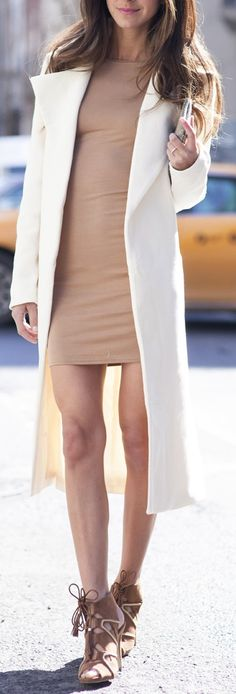 "c87c740c9ef5 justthedesign  ""Arielle Nachami is wearing a camel dress"