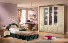 20 Comfy Kids Bedrooms Designs in Classic Style from Effedue Mobili Girl Room, Girls Bedroom, Bedrooms, Feng Shui, Bedroom Furniture, Bedroom Decor, Kids Bedroom Designs, Antique Beds, Murphy Bed