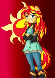 So... I redrew that old Sunset Shimmer drawing I made! I like this one a lot more. And hey, I think I perfected the human artstyle. You're free to like the old one better. Freedom of speech, after ...