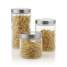 Glass Storage Containers with Stainless Steel Lids -- QUINOA, LENTIL, OATS, DARK CHOCOLATE