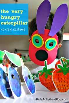 7. The Very Hungry Caterpillar: No Sew Costume - Kids Activities Blog- great costume to make! #WorldEricCarle and #HungryCaterpillar