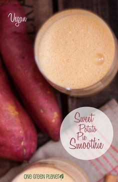 So, what makes this sweet potato pie smoothie so healthy? Vegetable Smoothie Recipes, Vegan Smoothie Recipes, Breakfast Smoothie Recipes, Healthy Smoothies, Vegan Recipes, Quick And Easy Breakfast, Yummy Drinks, Drinking Tea, Sweet Potato